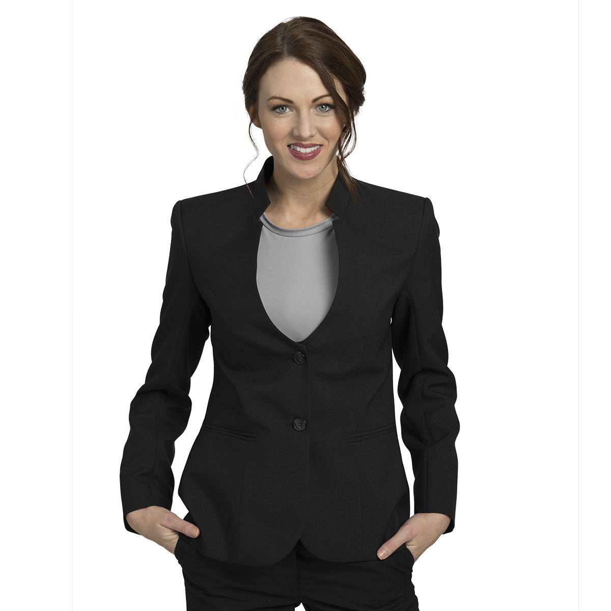 Women's UltraLux Mandarin Collar Blazer – Executive Apparel