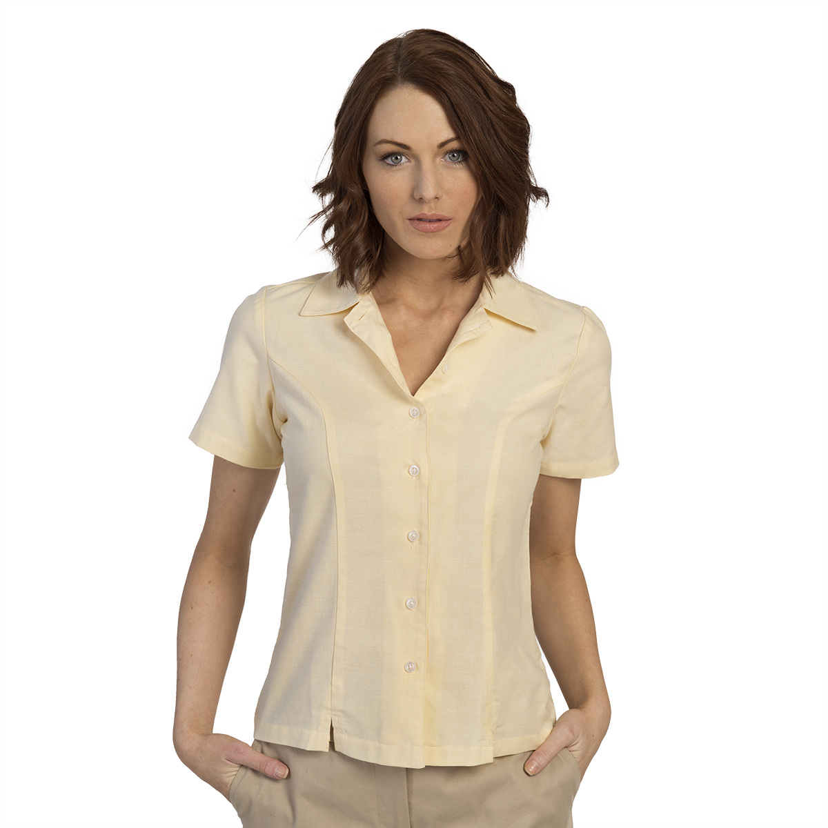 7c58af72aac Women s Oxford Style Short Sleeve Blouse – Executive Apparel