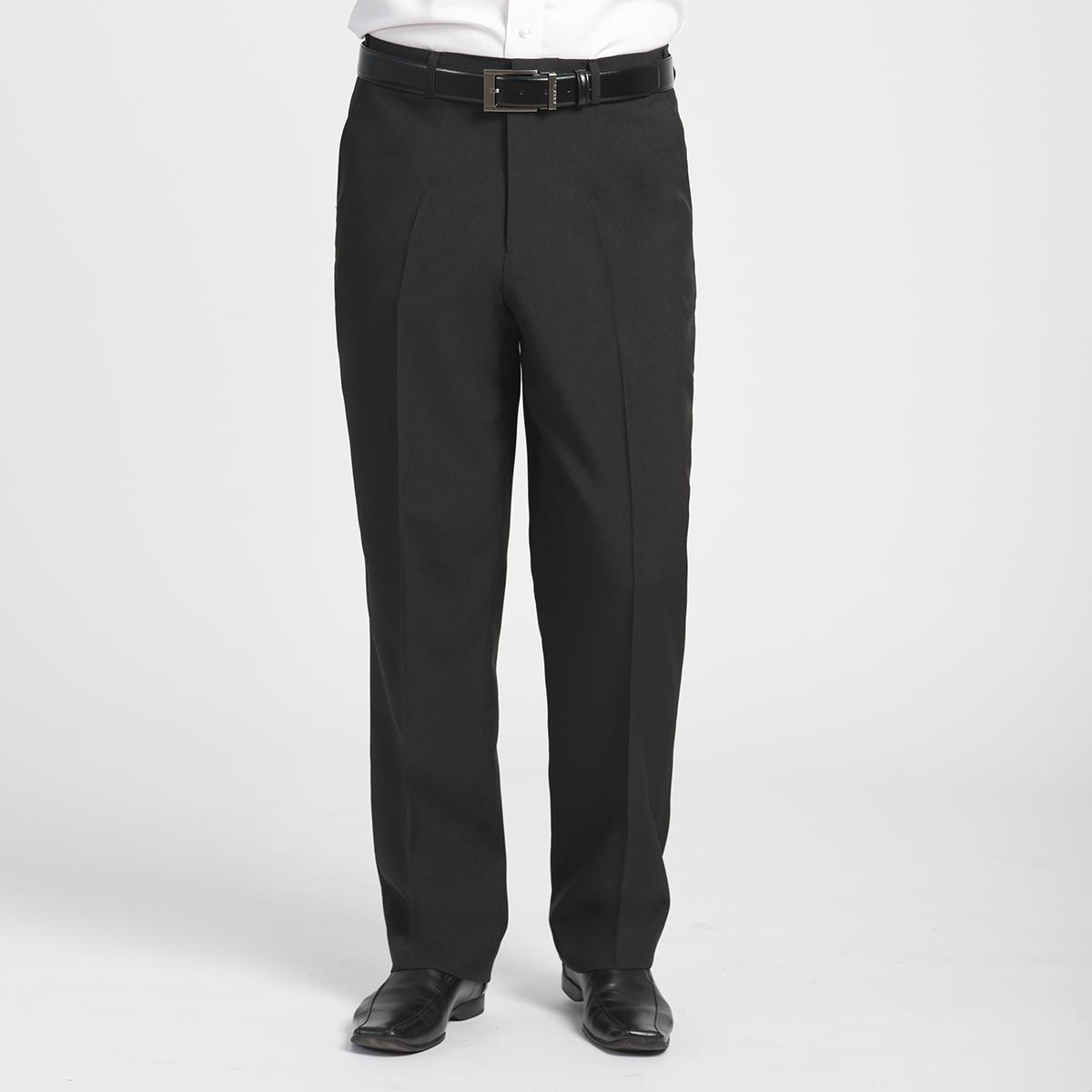 9220 Men S Plain Front Pants Side Stretch Gourmet