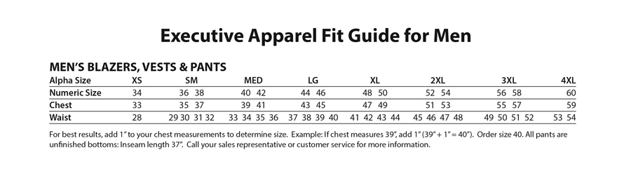 Fit Guide for Men