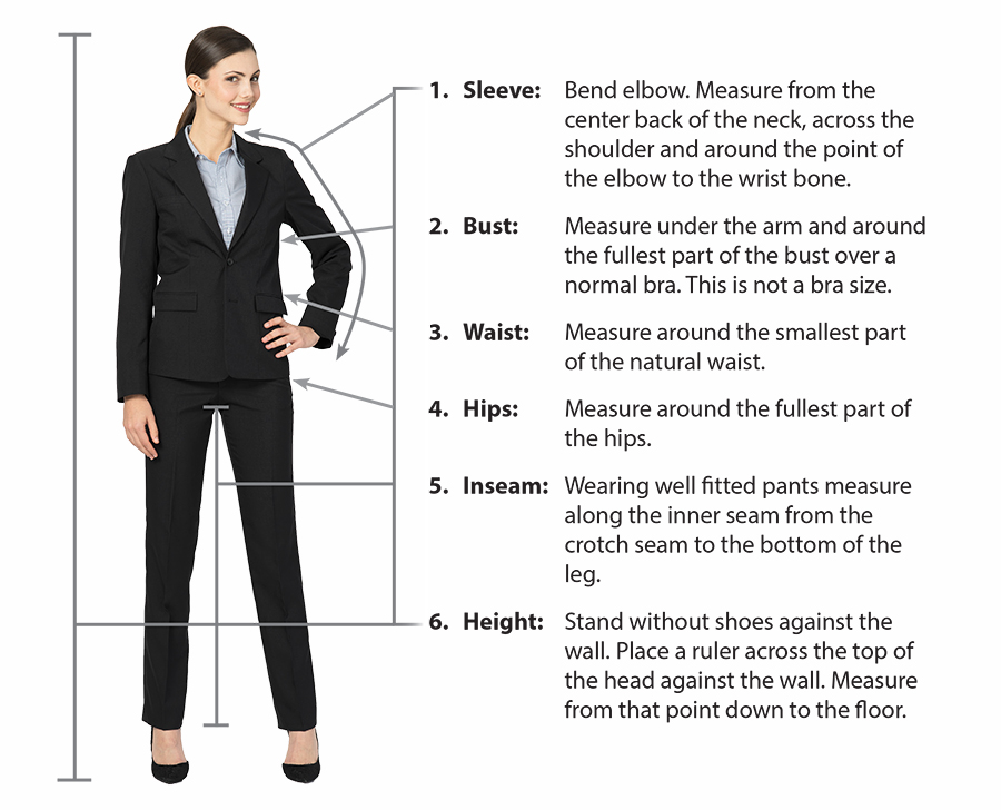 Fit Guide – Executive Apparel