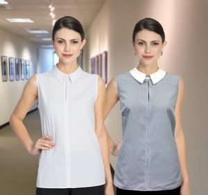 sleeveless uniform blouses