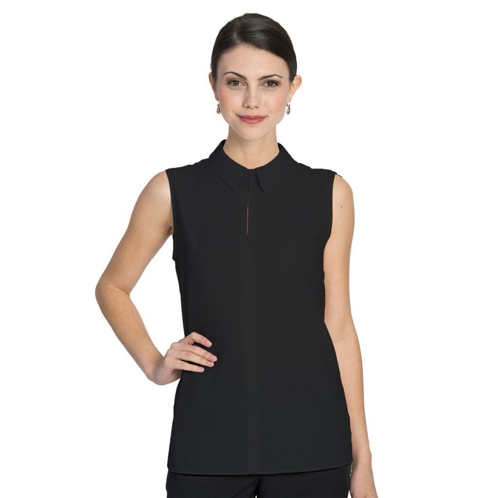 The Sydney Sleeveless Blouse Black