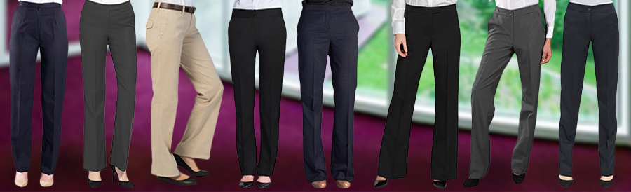 Women's pants for Uniforms from Executive Apparel