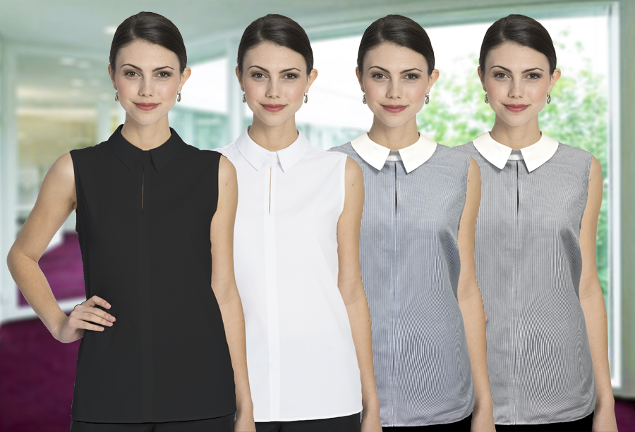 Sleevless Sydney Blouse in 4 Colors
