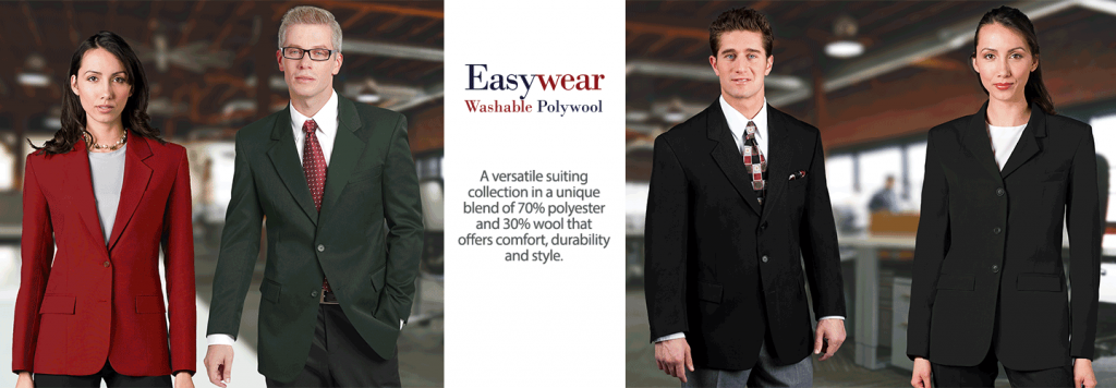 Easywear Polywool Suiting and Career Apparel for Uniforms