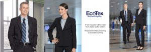 EcoTex recycled Polyester Suiting and career apparel for uniforms