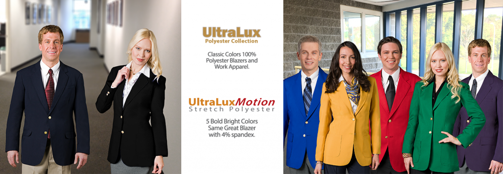 UltraLux & UltraLuxMotion Stretch Polyester Suiting and Career Apparel for Uniforms