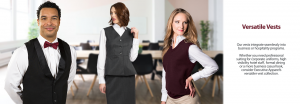 Custom Work Uniforms-Vests and career apparel for uniforms from Executive Apparel