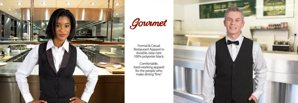 Gourmet restaurant apparel for uniforms