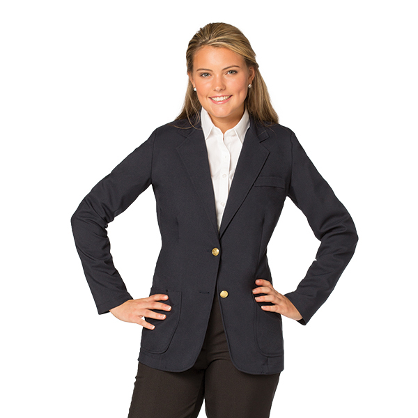 Women's Jet Unlined Polyester Blazer