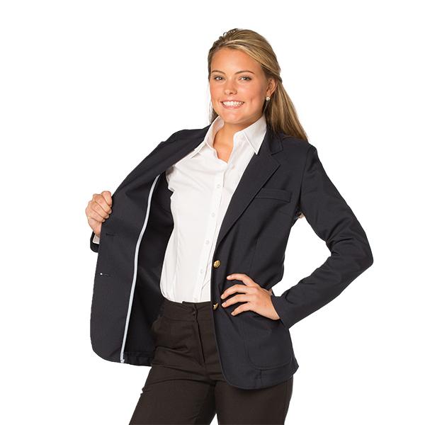 Women's Jet Unlined Polyester Blazer