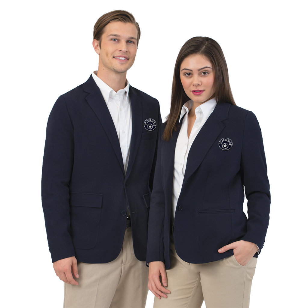 The Devin Stretch Knit Uniform Blazer