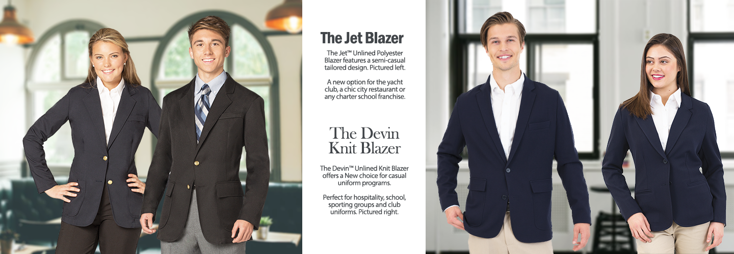 Devin and Jet Casual Uniform Blazers
