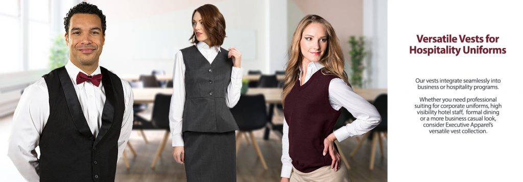 Hospitality Vests for Uniforms