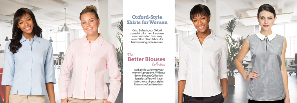 Women's Oxford shirts and better blouses for uniforms
