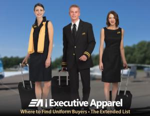 flight attendants in uniform walking from plane